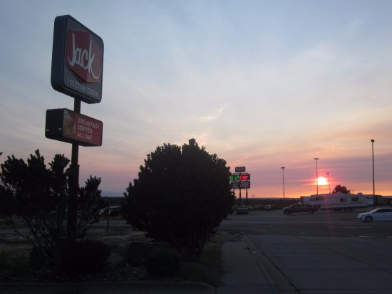 Sunset at Jack in the Box, Mountain Home ID