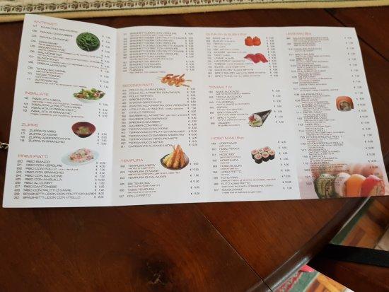 Kiyomi Japanese Restaurant Menu