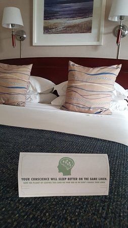 City Lodge Hotel V&A Waterfront: City Lodge water saving request for bed linen change.