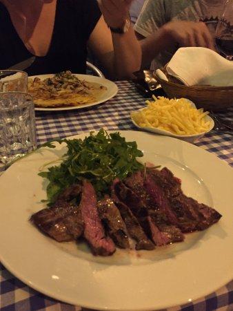 Restaurant Eichhornli : Bavette (Flank Steak) vom Rind mit Rucola und Alumettes