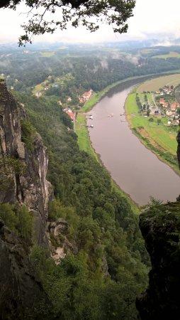 Bastei, Tyskland: Blick von der Plattform