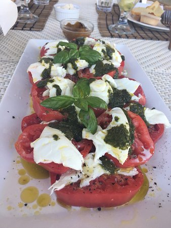 Siena House: Delicious homegrown caprese salad for breakfast