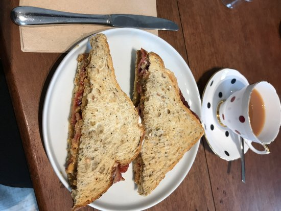 Ardvasar, UK: A Wonderful Bacon and Peanut Butter Sandwich - perfect Sunday morning breakfast!