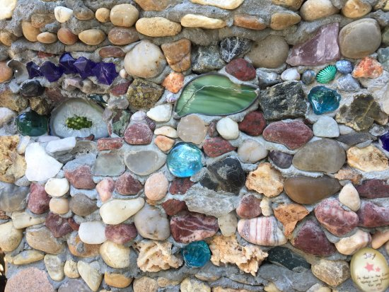 The Garden: Pebbles, Colored Glass And Other Materials That Make Up A  Structure At