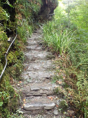 Lydford Gorge: Steep uneven steps