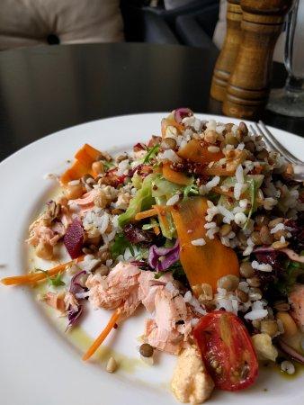 Cafe Copenhagen: salmon salad- delicious and healthy!