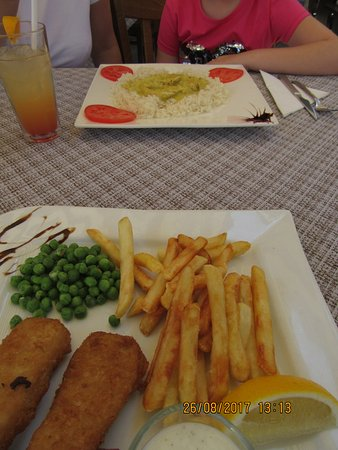 Fish and chips chicken curry no veg kids bild fr n the for Anchor fish and chips