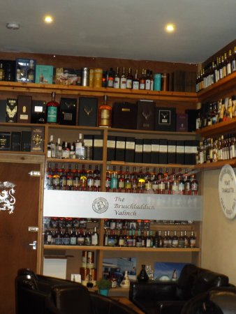 Wishaw, UK: The famous collection of Bruichladdich Valinches -gets bigger and bigger!