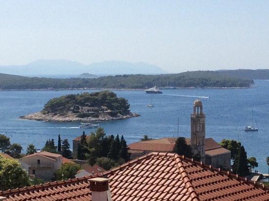 Hvar Adası, Hırvatistan: View from apartment