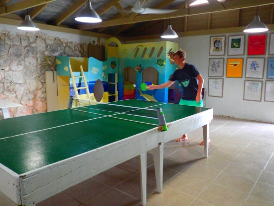 Small Hope Bay Lodge: We played hours of ping pong