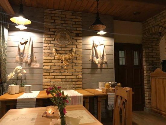 Suwałki, Polska: Wnętrze restauracji