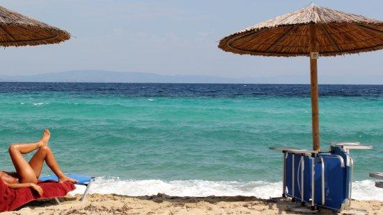 Agios Nikolaos, Greece: Schöner Strand