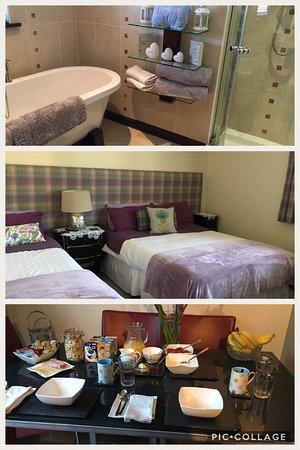 Ashdale Bed and Breakfast: Room/bathroom/breakfast