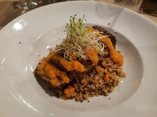Port Jefferson, NY: tuna ginger on quinoa