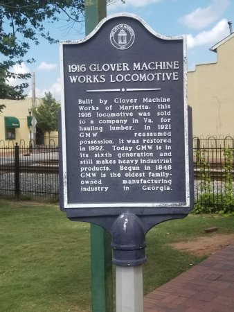 Marietta, Georgien: Locomotive Plaque