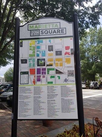Marietta, Georgien: Map of the Square