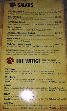 Tionesta, PA: menu