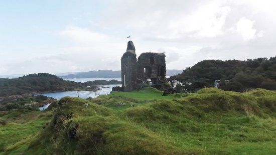 Struan House: View of castle which is directly above Struan Guest House. Easily accessable by road or steep st