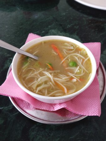 Airport Restaurant: Noodles soup for Junior