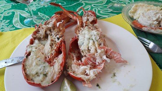Iles des Saintes, Guadalupe: Merci pour le super moment passé hier à  la Belle etoile.  La recette : langoustes+punch merise+
