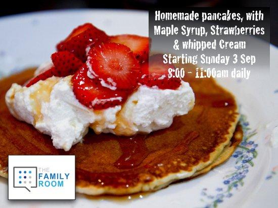 Family Room Cafe: Freshly whipped cream