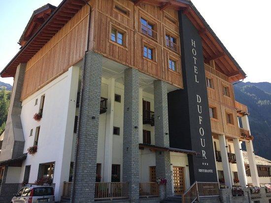 Hotel Dufour: la vista esterna