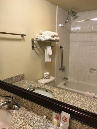 Comfort Inn Downtown: Duschbad ist in die Jahre gekommen