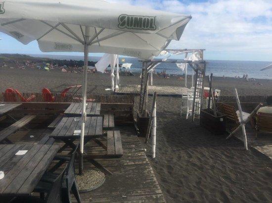 Pe na Areia: a esplanada