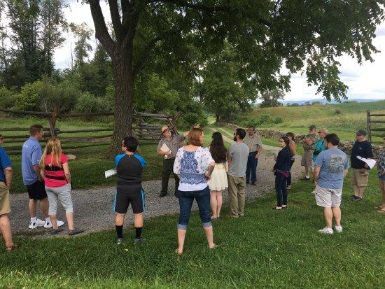 Sharpsburg, MD: Guided tour of Antietam National Battlefield.
