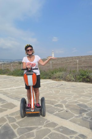 Paphos Segway Tour: Alex was very patient with me as the least confident member of our group
