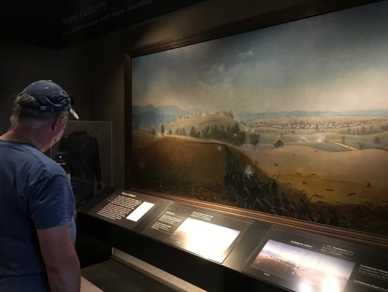 Sharpsburg, Мэриленд: Antietam National Battlefield - visitor center exhibit