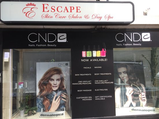 Nueva York, Estado de Nueva York: Front Entrance of Escape Skin Care Salon & Day Spa