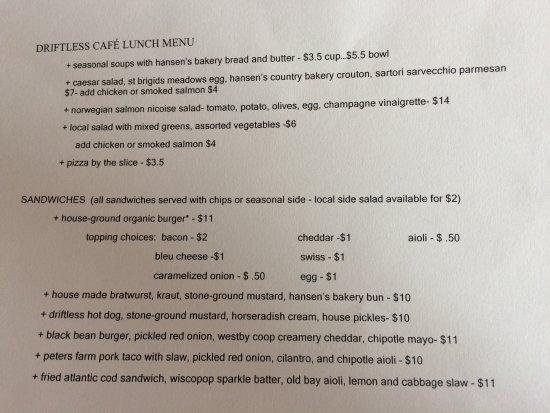 Viroqua, WI: menu selection