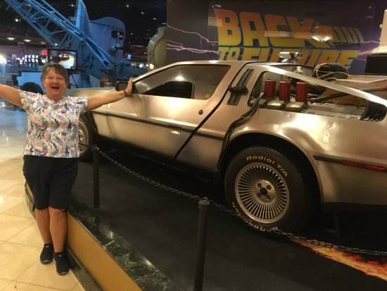 Hollywood Casino Tunica Hotel: Car from Back to the Future movie and me inside Hollywood Casino.