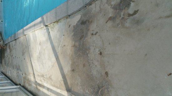 Beynat, France : Piscine très sale, froide avec aucune finition