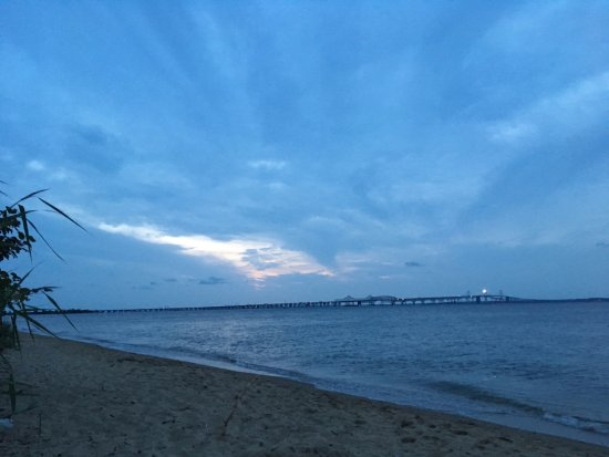Stevensville, MD: View of bridge from beach