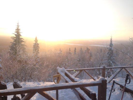 Parc National d'Aiguebelle: Vu du camp rustique La Cigale et magnifique levé de soleil