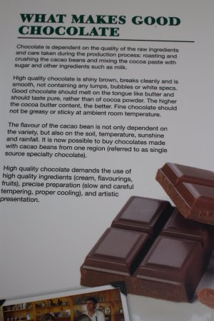 Victoria, Canada: what makes good chocolate sign