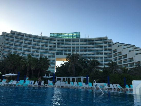 View of resort from pool picture of live aqua beach resort cancun cancun tripadvisor for How many rooms at live aqua cancun
