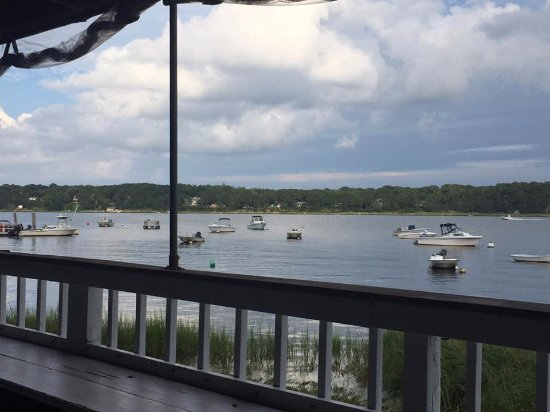 Orleans Waterfront Inn : View from the deck of the restaurant