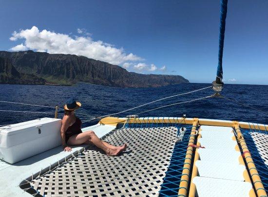Captain Sundown Catamaran along Na Pali Coast