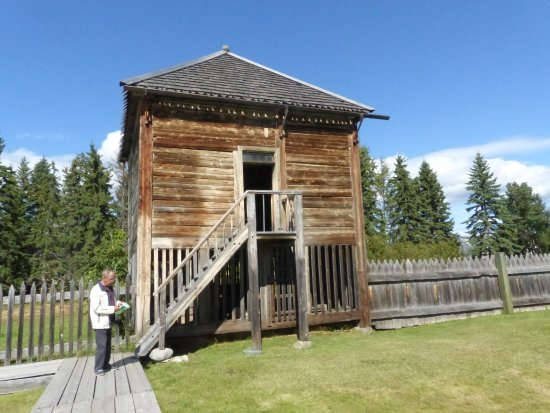 """Fort St. James National Historic Site: The """"Fish House"""" - storage of dried fish"""