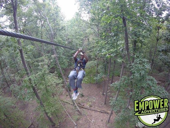 Middleburg, VA: Having a ball zip lining!
