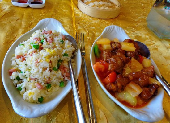 Bao Lin Xuan: le porc à la sauce aigre - douce et son riz cantonais de bon aloi