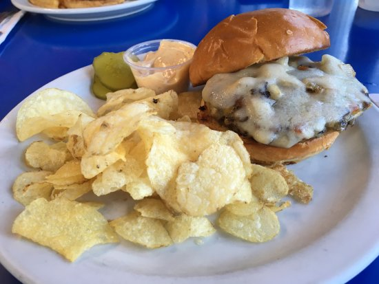 Betty's Pies: Wild Rice Burger with onion and swiss cheese