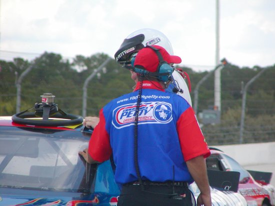 Richard Petty Driving Experience: ... and getting back out.