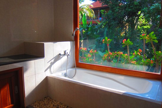Dewi Ayu Accomodation: Absolute 5 star view from the bath room , good to soak!