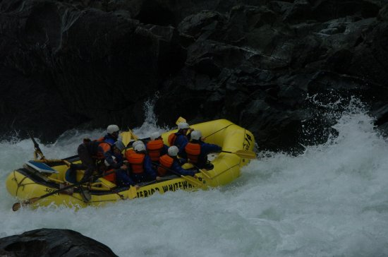 Interior Whitewater Expeditions - Day Tours: Everyone hangs on