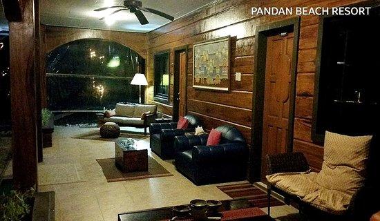 Pandan, Filippijnen: Balcony outside our room