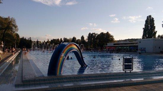 Palatinus Strand: A city centre beach and pool area